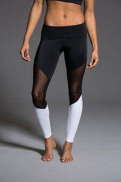 Track Legging - Black / Black Mesh / White