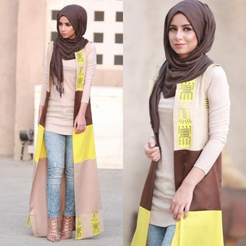 Style Influencer Egyptian In the UAE- Casual chic hijab 2016…