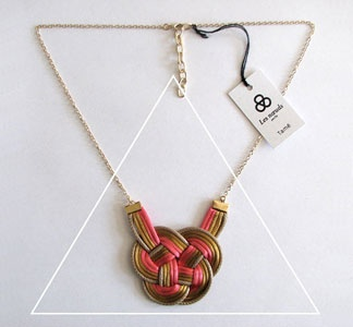 Knot necklace love!