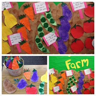 Crops for the Bulletin board: good for a farm unit, vegetable unit, or gardening