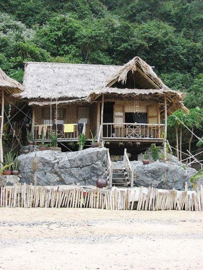 Beach Bungalow in Halong Bay - a World Heritage site and the number one attraction in northeastern Vietnam.
