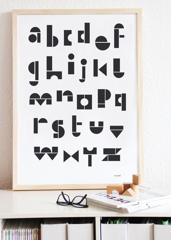 Alphabet poster by Snug