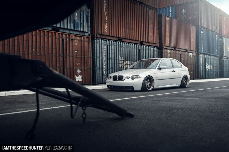 A Slammed BMW Compact FromBelarus