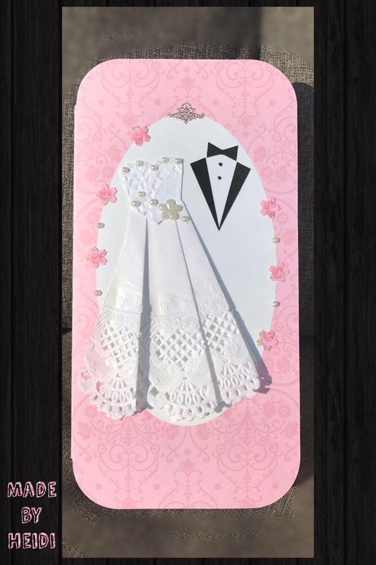 Onnittelukortti hääparille / For newly weds DIY card