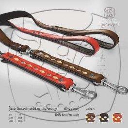 Diamond Brass lijn Rood Mooie#100% zacht lederen lijn en 100% brass stenen#De lijn is gevoerd dus extra dik.