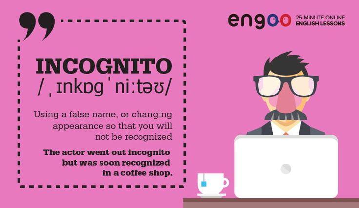 """Слово """"инкогнито"""" пришло из латинского языка. In-cognitus означает неузнанный, неизвестный."""