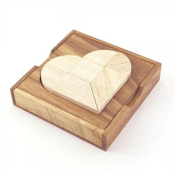 Heart Tangram Wooden Puzzle by AmaWoodShop on Etsy