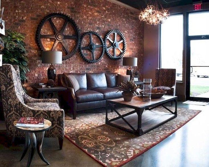 33 Best Industrial Living Room Ideas