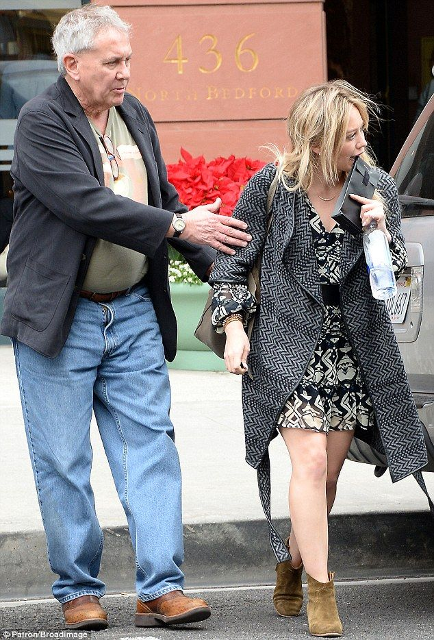 Just the two of us: Hilary was seen later on in the day leaving Anastasia Salon in Beverly...
