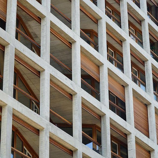 ArcDog Images: Helsinki Dreispitz | Herzog & de Meuron. Image © ArcDog #arcdog #image #arcdogimages #architecture #photography #architect #building #space #architecturephotography #helsinki #dreispitz #basel #switzerland #herzogdemeuron #hdm #apartment #concrete #wood