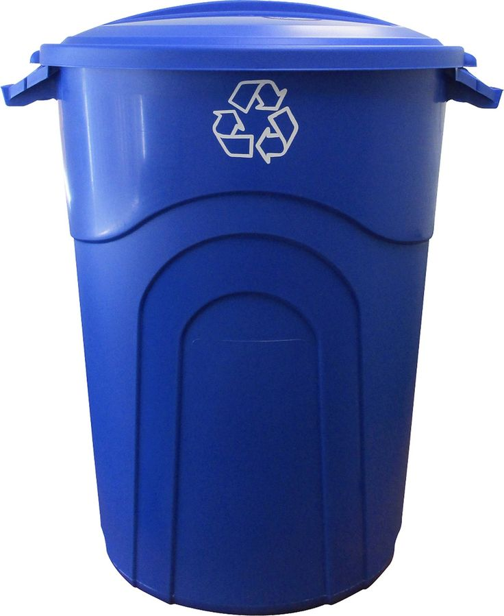Recycling Injection Molded 32 Gallon Manual Lift Trash Can