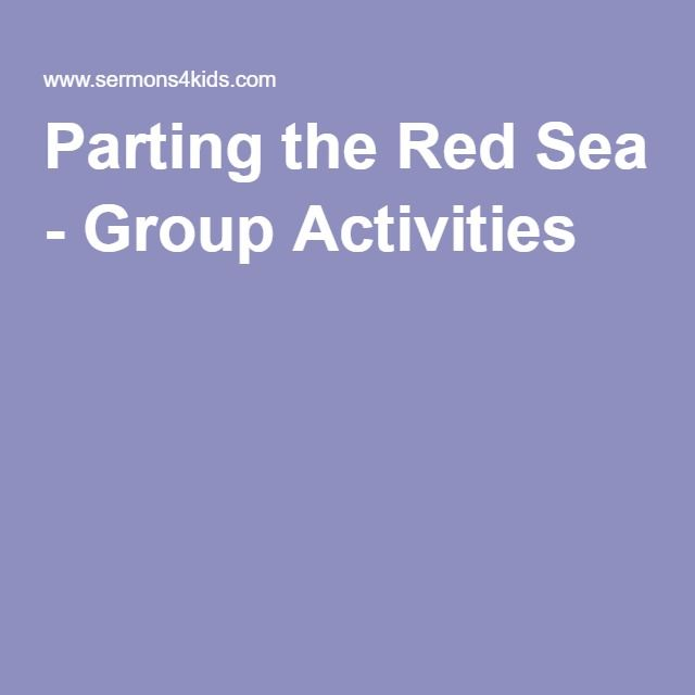 Parting the Red Sea - Group Activities