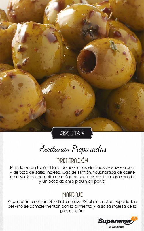 #TapasyVinos Aceitunas preparadas + Vino tinto (uva Syrah). #Andalucía