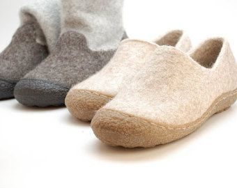 Rubber soles for my female felted clogs and booties by WoolenClogs