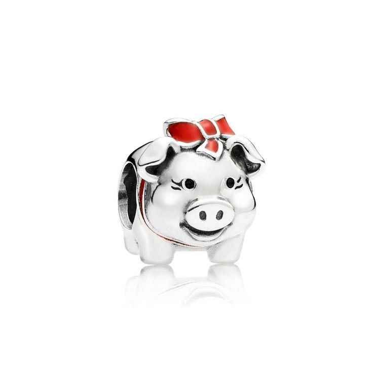 Pandora Piggy Bank Charm 791809ENMX
