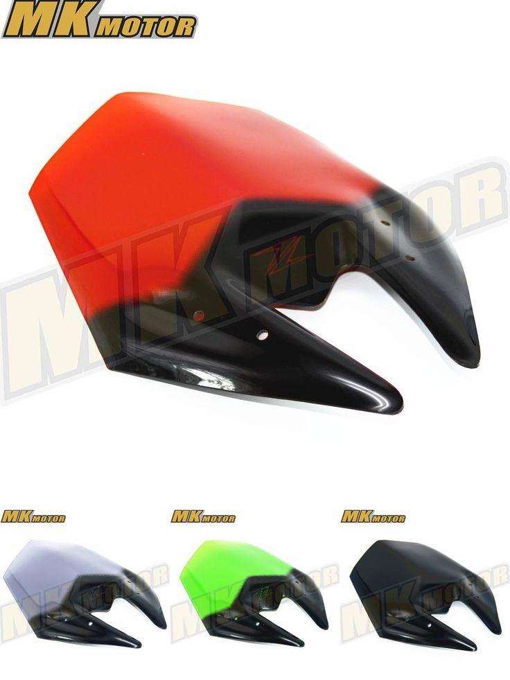 [Visit to Buy] Black/Smoke Motorcycle Windshield WindScreen Viser Visor Fits For Kawasaki Z800 2012 2013 2014 2015 2016 Double Bubble #Advertisement