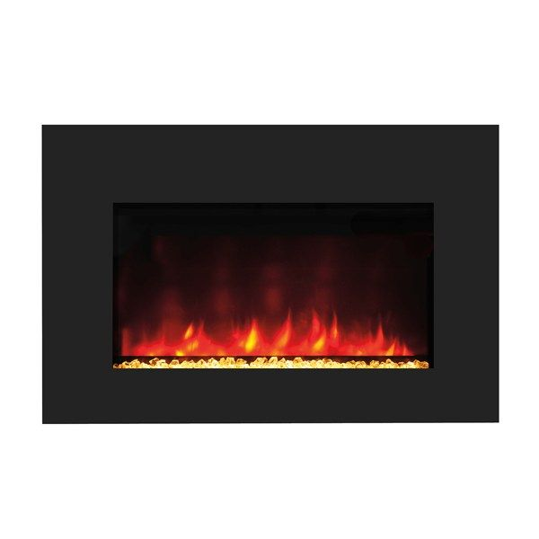 Amantii Zero Clearance 39 Black Glass Surround Electric Fireplace Zecl 39 4134 The Simple
