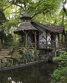 Love this little fairytale cottage by a woodland stream, I'll take it!