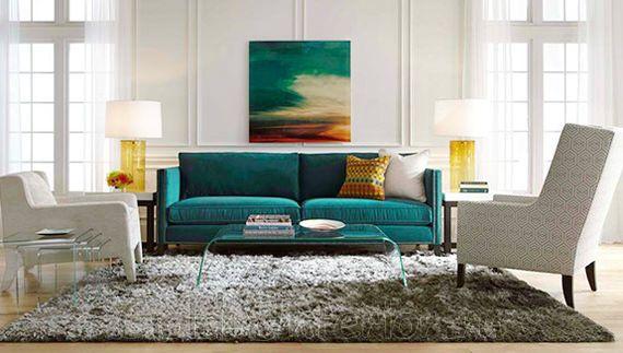 оранжевый диван в интерьере - Поиск в Google