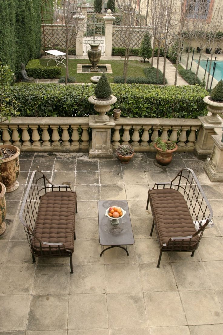 A European Garden with Le Forge Garden Furniture. www.leforge.com.au