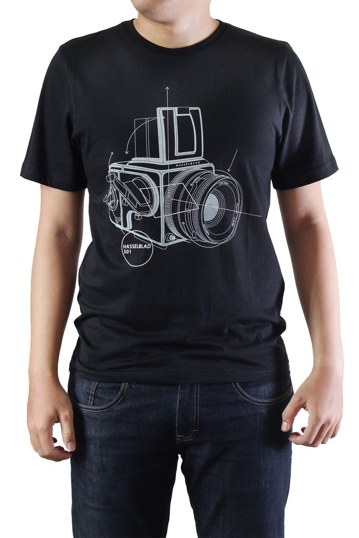 Black t shirt ebay - Hasselblad Classic Camera Tee Shirt Black Analog Medium Format Photography