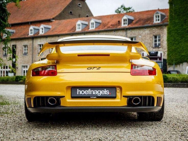 Yellow 2008 Porsche 911 (997) GT2