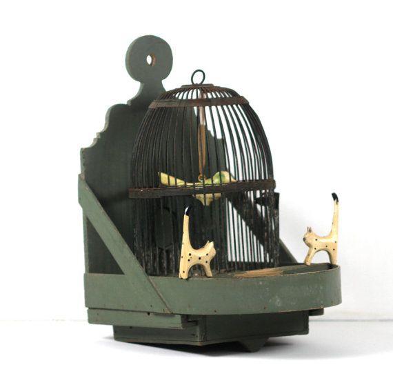 French Antique Rustic Birdcage - Decorative Birdhouse