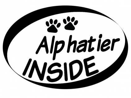 Aufkleber - Inside HundeAuto Aufkleber Inside: Alphatier