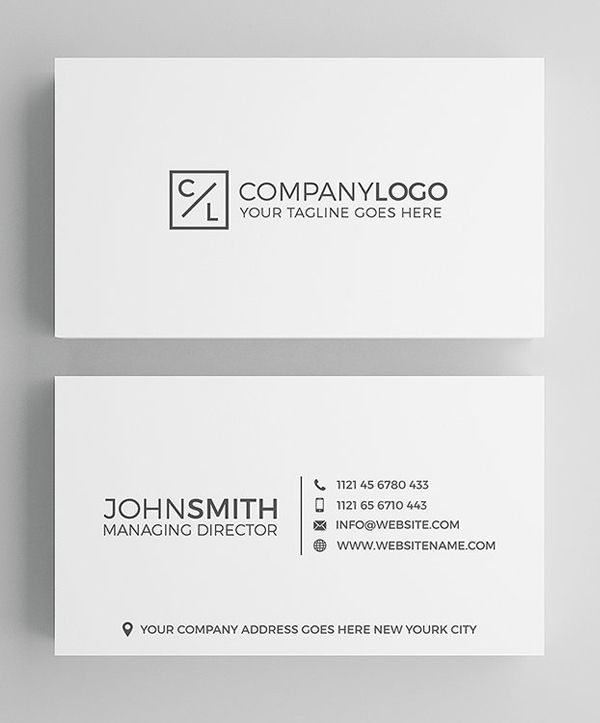 Minimal Modern Business Card Design Graphic Templates Business Cards Layout Corporate Business Card Design Business Card Design
