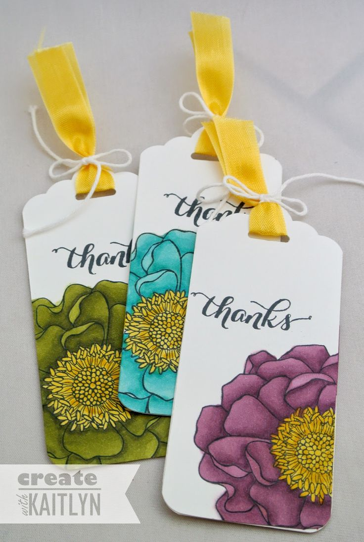 Blended Bloom Tags: Tags Idea, Card Idea, Bloom Tags, Pocket Card, Stampin Up Tags, Tags Bookmarks, Hostess Gifts, Paper Crafts, Bloom Stamps