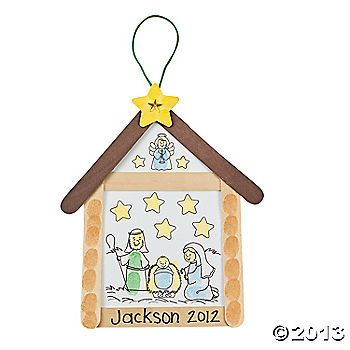 stalletje knutselen met kleuters / Nativity Thumbprint Sign Craft Kit