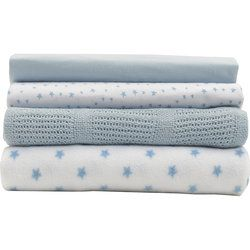 Cotbed Bedding Starter Set in Blue Star