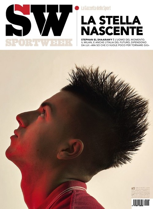 Stephan El Shaarawy magazine spread via madridistarossonera.tumblr.com    So how can I get my hands on a physical copy of this in the US without shelling out a fortune.