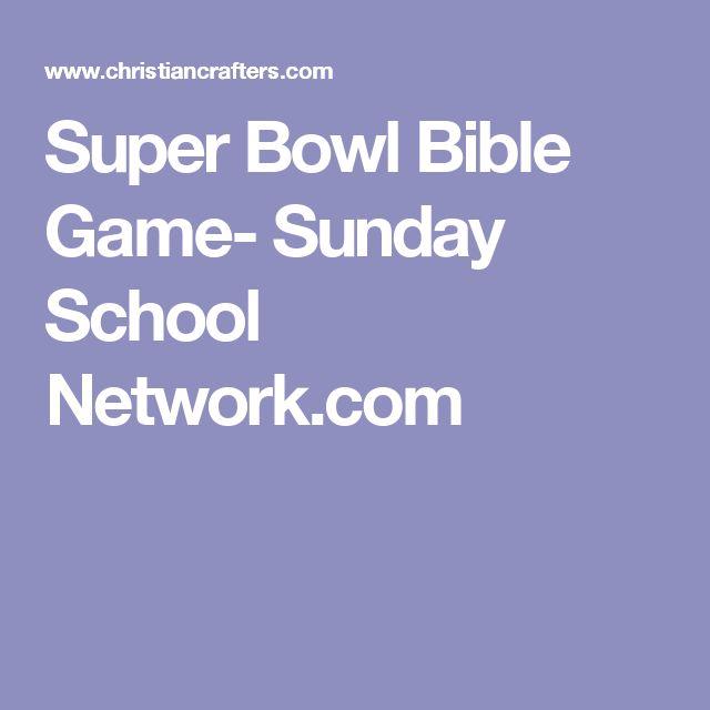 Super Bowl Bible Game- Sunday School Network.com