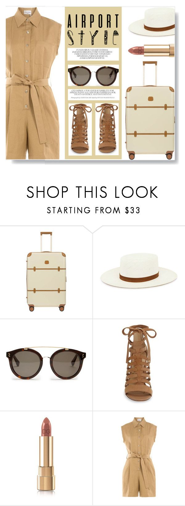 """Jet Set Style"" by keepfashion92 ❤ liked on Polyvore featuring Bric's, Janessa Leone, STELLA McCARTNEY, Sam Edelman and Sonia Rykiel"