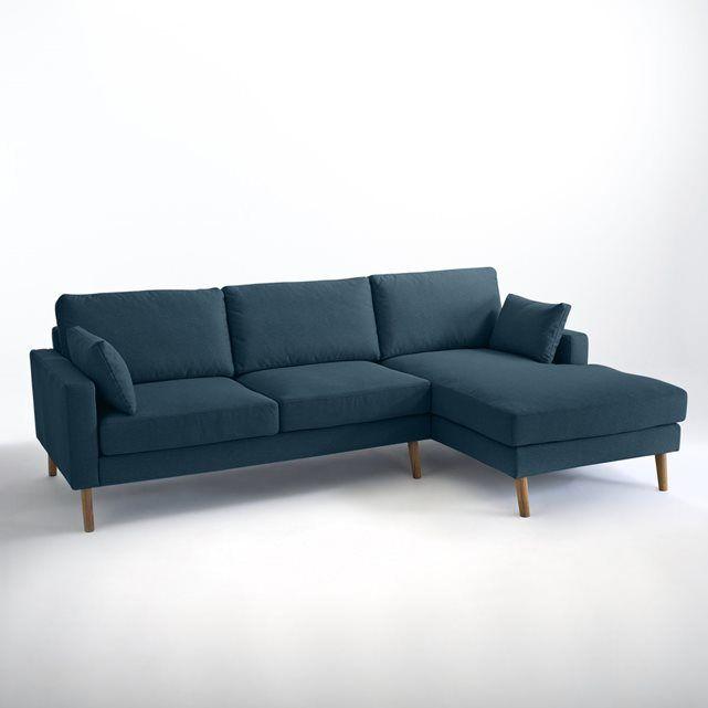 Canapé d'angle fixe Stockholm polyester, confort E La Redoute Interieurs