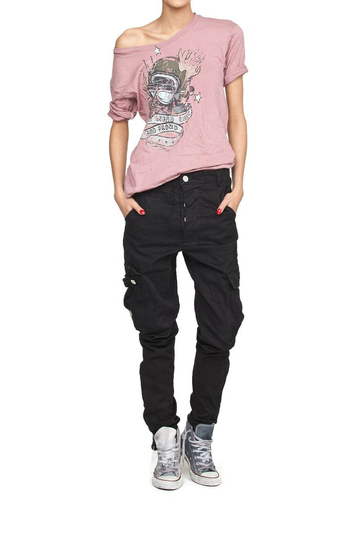 T-shirt IRON różowy Róż | Ubrania \ T-shirty PROJEKTANCI \ ROBERT KUPISZ Qπш Ubrania \ Wszystkie ubrania T-shirty Wszystkie ubrania W ubiegłym miesiącu Qπш ROBERT KUPISZ Damskie IRON Zima 2014/2015 | MOSTRAMI.PL