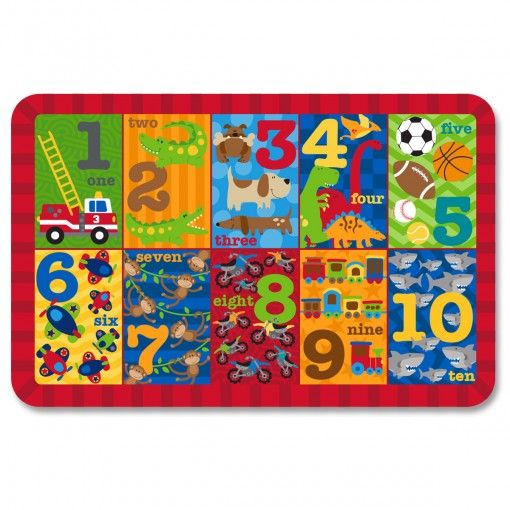 123 Boy Placemat Possum Pie Stephen Joseph Arts and Crafts, Gifts and Toys, Bags and Backpacks