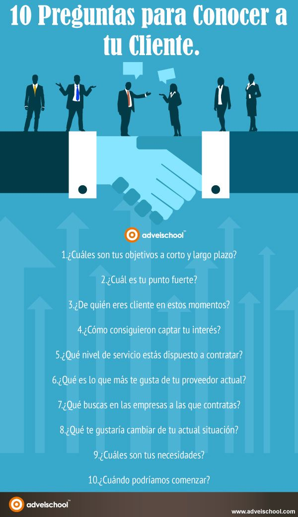 10 preguntas para conocer a tu cliente #infografia #infographic #marketing