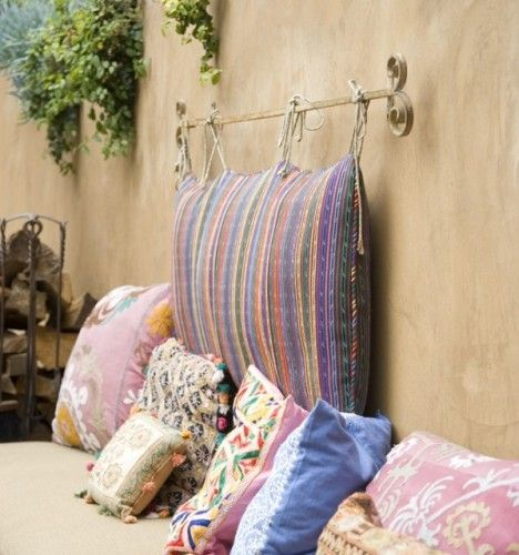Pillow Headboard this is another alternative to boost your bedroom