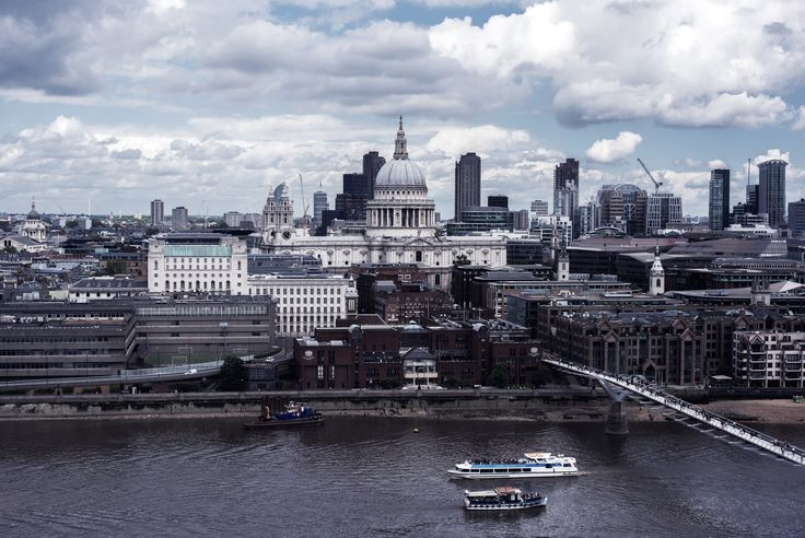 London June 2016 #1 | View from Tate Modern towards St.Paul's Cathedral and the City of London | Moonlight Bohemian