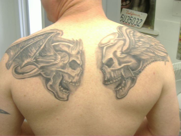 Best 25+ Good and evil tattoos ideas on Pinterest