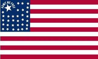 "American Political Party - ""Free Kansas"" Flag (1850s)"