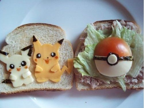 Pokemon sandwich - I am not crazy about these commercial critters but my daughter's best friend is and I am certain she would love making him this for lunch the next time he comes over.
