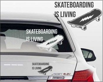 Skateboarder Aufkleber