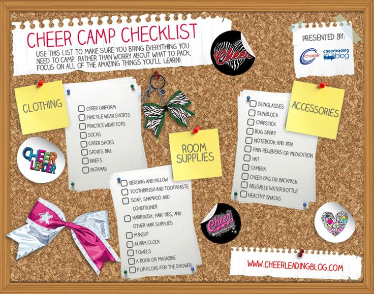Cheerleading Camp Checklist