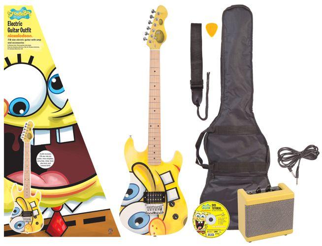 SpongeBob SquarePants: 7/8-size Electric Guitar Pack. £169.00