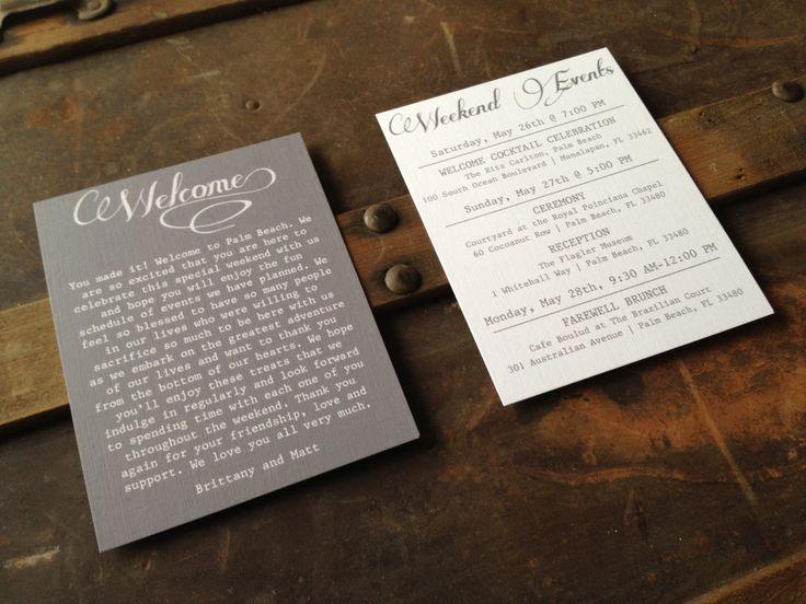 Wedding Gift Bag Itinerary : ... Wedding: Welcome Bags on Pinterest Wedding welcome bags, Wedding and