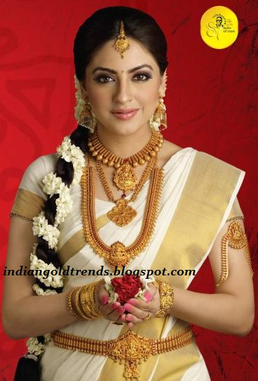 Kerala Temple Jewelry http://www.pinterest.com/nricouple/ Follow our wedding boards for great ideas!