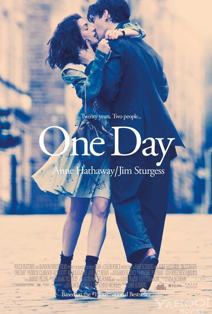 One Day by David Nicholls I am in LOVE with this book and MUST see the movie.